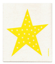 Swedish Dishcloth - Big Star - Yellow