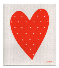 Swedish Dishcloth - Heart - Orange