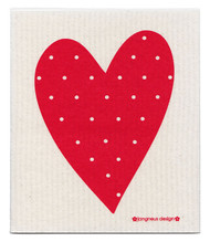 Swedish Dishcloth - Heart - Red