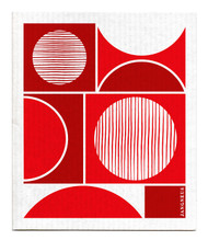 Swedish Dishcloth - Circles - Red