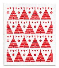 Swedish Dishcloth - Festival - Red