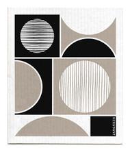 Swedish Dishcloth - Circles - Black