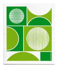 Swedish Dishcloth - Circles - Green