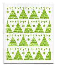 Swedish Dishcloth - Festival - Green