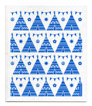 Swedish dishcloth 100% biodegradable 7 by 8 inches, Blue festival by Jangneus