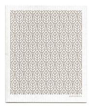 Swedish Dishcloth - New Leaves - Grey