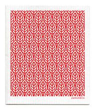 Swedish Dishcloth - New Leaves - Red