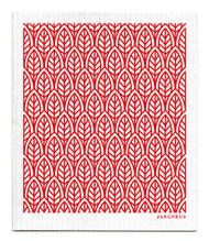 Swedish Dishcloth - New Leaves - Red