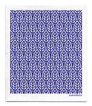 Swedish Dishcloth - New Leaves - Blue
