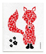 Swedish Dishcloth - Fox - Red
