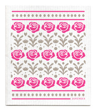 Swedish Dishcloth - Roses - Pink