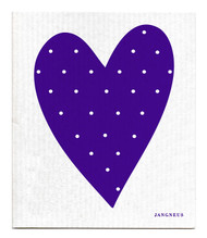 Swedish Dishcloth - Heart - Purple