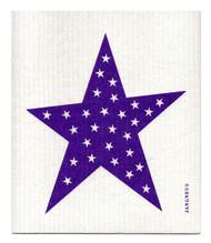 Swedish Dishcloth - Big Star - Purple