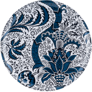 Round tray from Ary Home Sweden. Indian Indigo.