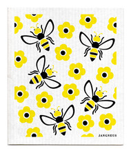 Jangneus Swedish dishcloth, Bee Yellow, 100% biodegradable