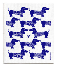 Jangneus Swedish dishcloth, Dachshund Blue, 100% biodegradable