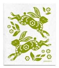 Jangneus Swedish dishcloth, Hare Green, 100% biodegradable