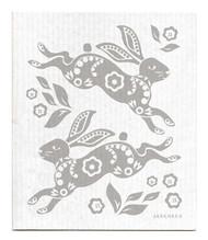Jangneus Swedish dishcloth, Hare Grey, 100% biodegradable