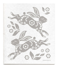 Jangneus Swedish dishcloth, Hare Grey, 100% biodegradable