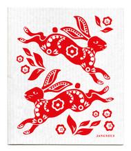 Swedish Dishcloth - Hare - Red