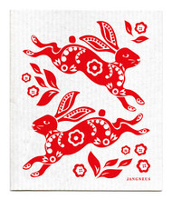 Swedish Dishcloth - Hare - Red