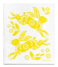 Jangneus Swedish dishcloth, Hare Yellow, 100% biodegradable