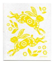 Jangneus Swedish dishcloth, Hare Yellow, 100% biodegradable