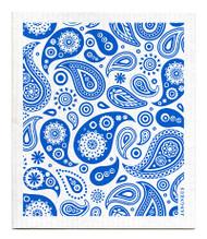 Swedish Dishcloth - Paisley - Blue