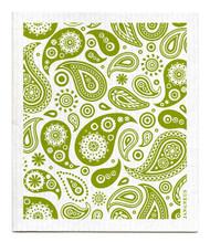 Swedish Dishcloth - Paisley - Green
