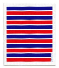 Swedish Dishcloth - Red/Blue Stripes
