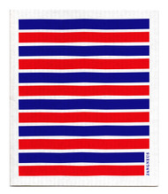 Swedish Dishcloth - Red/Blue Stripes