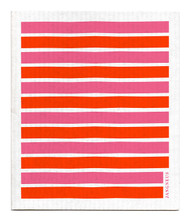 Swedish Dishcloth - Pink/Orange Stripes
