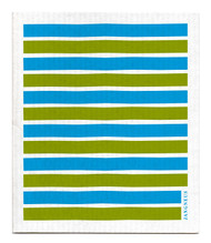 Swedish Dishcloth - Turquoise/Green Stripes