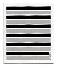 Swedish Dishcloth - Black/Grey Stripes
