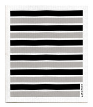 Swedish Dishcloth - Black/Grey Stripes