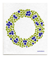 Swedish Dishcloth - Wreath - Blue