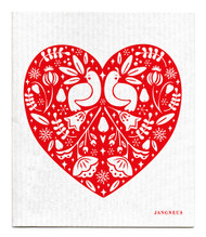 Swedish Dishcloth - Partridge - Red