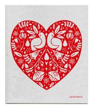 Swedish Dishcloth - Partridge - Grey/Red