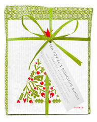 Bundle - Leaves - Green with Christmas tree