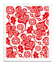 Jangneus Swedish dishcloth, Red Oak Leaf, 100% biodegradable