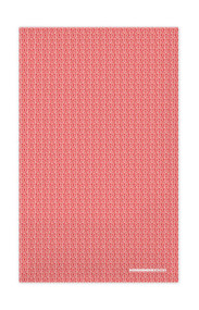 Swedish Kitchen Towels - Leaves - Red