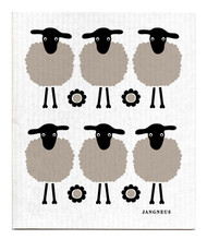 Jangneus Swedish dishcloth, Mini Black Sheep, 100% biodegradable
