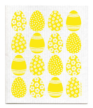 Swedish dishcloth 100% biodegradable 7 by 8 inches, Mini Easter egg Yellow by Jangneus