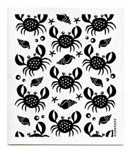 Swedish dishcloth 100% biodegradable 7 by 8 inches, Crabs black by Jangneus