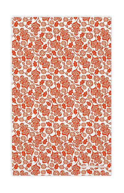 Jangneus kitchen towel oak leaf orange
