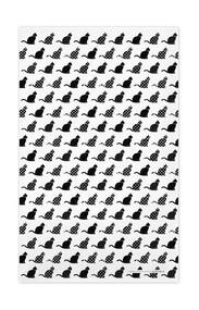 Swedish Kitchen Towels - Cats - Black