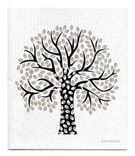 Jangneus Swedish dishcloth, Tree Black, 100% biodegradable