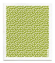 Swedish Dishcloth - Mini Leaves - Green