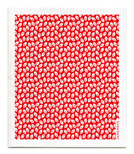 Swedish Dishcloth - Mini Leaves - Red