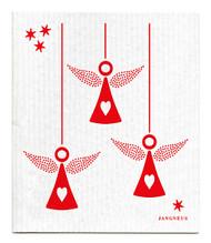 Jangneus Swedish dishcloth, Angel Red, 100% biodegradable